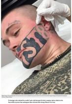 【海外発!Breaking News】顔のタトゥーで「仕事が見つからない」と嘆いた男性、除去を決意(ニュージーランド)
