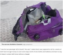 【海外発!Breaking News】空港で預けたスーツケースが無残に 18歳女性「ホリデーが台無し」と激怒(英)