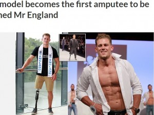 【海外発!Breaking News】片脚の男性モデル「ミスター・イングランド2017」に! 目指すは世界一