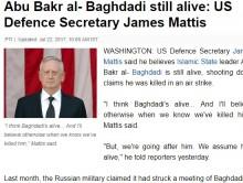 【海外発!Breaking News】米国防長官「IS最高指導者バグダーディーはまだ生存」 クルド人対テロ専門家の発言に続き