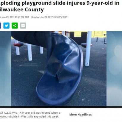 【海外発!Breaking News】公園のすべり台が爆発し少年が重傷 爆発物か自然膨張か(米)