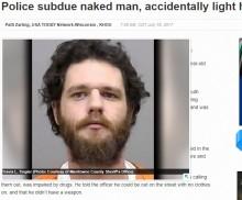 【海外発!Breaking News】スタンガンが犯人のライターに命中 炎が上がり容疑者がやけど(米)