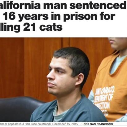 【海外発!Breaking News】元警察署長の息子 連続動物虐待死事件で懲役16年の実刑(米)