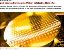 【海外発!Breaking News】偽造半導体100万点以上を押収 欧州で密輸が急増