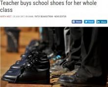 【海外発!Breaking News】新学期にクラスの児童全員大喜び 新品の靴をプレゼントした教師(南ア)