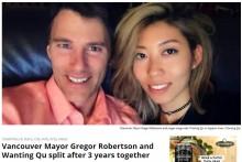 【海外発!Breaking News】バンクーバー市長との熱愛に終止符か 中国人女性歌手、故郷で母親に汚職事件