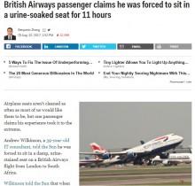 【海外発!Breaking News】「前の乗客がオモラシ」も座席移動できず11時間のフライト 英航空会社に男性客激怒