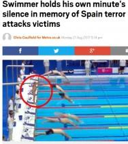 【海外発!Breaking News】『世界マスターズ水泳選手権大会』でスペインの選手、スタート合図にも飛び込まず黙祷