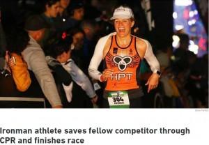 【海外発!Breaking News】トライアスロン大会中、倒れた選手に救命処置 226.2kmを完走した医師(米)