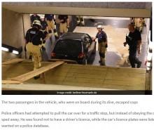 【海外発!Breaking News】夜8時のベルリン地下鉄駅に車がダイブ 逃げ出した25歳運転手を逮捕