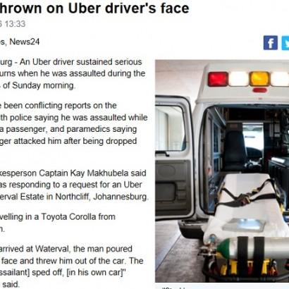 """【海外発!Breaking News】タクシー運転手を狙った""""酸攻撃""""が南アフリカで多発"""