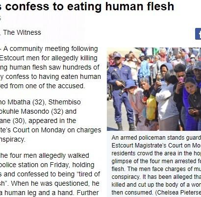 【海外発!Breaking News】「人肉は食べ飽きた」と男が自首した村 住民の3分の1が人肉を口に(南ア)