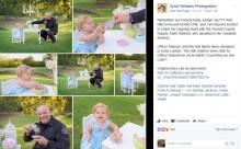 【海外発!Breaking News】出産に立ち会った警察官が1歳女児のパーティーにお呼ばれ その姿が可愛すぎる!(米)
