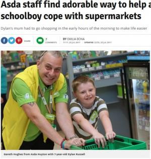 【海外発!Breaking News】自閉症の7歳児へ「VIPストアツアー」も スーパー店員が素敵な対応(英)
