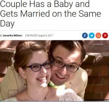 【海外発!Breaking News】結婚式当日に赤ちゃんが誕生したカップル「一度に全てが叶った!」(米)