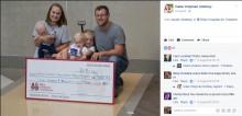 【海外発!Breaking News】弟を助けてくれた病院に7歳兄、8万円を寄付(米)