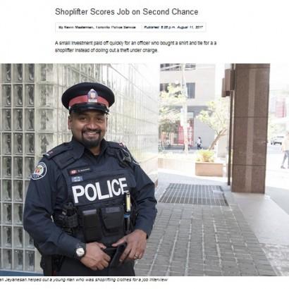 【海外発!Breaking News】万引きしたシャツ代を警察官に払ってもらった18歳青年、仕事をゲット(カナダ)