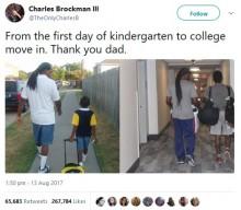 """【海外発!Breaking News】進学のために家を出る息子、2枚の写真で""""父への感謝""""を伝える(米)"""