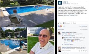 【海外発!Breaking News】妻を亡くした94歳男性、近所の子供たちのため自宅にプールを設置「もう寂しくないね」(米)