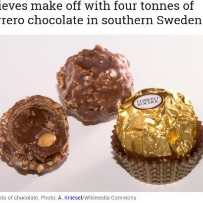 【海外発!Breaking News】イタリア製高級チョコが大量に盗まれる 被害総額1300万円超(スウェーデン)