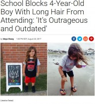 【海外発!Breaking News】ロングヘアで初登校した4歳男児、学校から「髪を切るまで来ないで」(米)