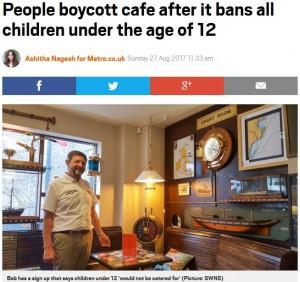 【海外発!Breaking News】「犬はOK、12歳未満は入店禁止」のカフェに一部住民が怒り ボイコットの呼びかけも(英)