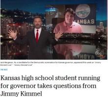 【海外発!Breaking News】米カンザス州で16歳男子が知事選に出馬 「大苦戦は覚悟している。それでも…」