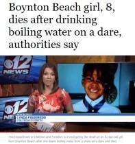 【海外発!Breaking News】熱湯を一気に飲む愚行が流行か 8歳女児が死亡(米)