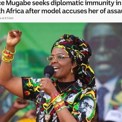 【海外発!Breaking News】ジンバブエ大統領夫人、モデルに暴行容疑 いまだ行方分からず(南ア)