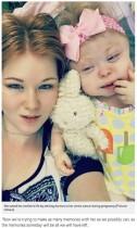 【海外発!Breaking News】妊娠中に子宮頸がんが発覚 誕生した娘は難病と闘う日々(米)<動画あり>