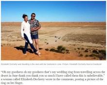 【海外発!Breaking News】砂丘で失くした結婚指輪 旅行者に発見され持ち主のもとへ(豪)