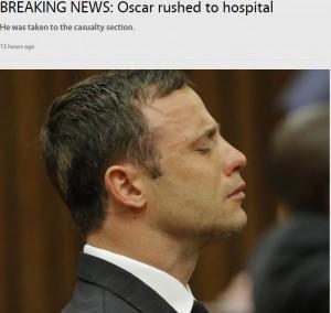 【海外発!Breaking News】オスカー・ピストリウス受刑者、胸の痛みを訴え病院へ搬送(南ア)