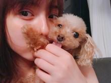 【エンタがビタミン♪】佐々木希に「すっぴん?」の声 愛犬との2ショットが「可愛すぎる」