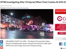 【海外発!Breaking News】今年2月にも同じ事故 米・フィラデルフィア近郊のターミナル駅で列車が追突