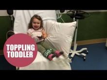 【海外発!Breaking News】100万人に1人の神経疾患により1日100回以上転倒する2歳女児(米)<動画あり>