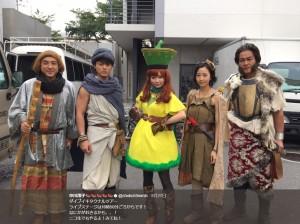 メレブ、ヨシヒコ、アリーナ姫、ムラサキ、ダンジョー(画像は『中川翔子 2017年8月27日付Twitter「ダイブイキタクナルツアー ライブステージは16時50分ごろからです!」』のスクリーンショット)