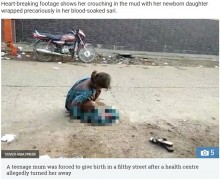 【海外発!Breaking News】病院が受け入れ拒否 17歳少女、路上で出産を強いられる(印)