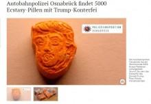 【海外発!Breaking News】トランプ大統領の顔が刻印された合成麻薬 ドイツで押収される