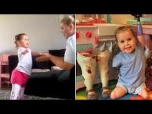 【海外発!Breaking News】1歳で両手足を失った女児、義足をつけて再び歩き出す(英)<動画あり>