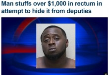 【海外発!Breaking News】麻薬密売人、1,000ドル分の紙幣を体内に隠し警察官うんざり(米)