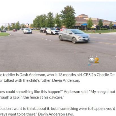 【海外発!Breaking News】保育園で1歳半男児がフェンスの隙間から外へ あわやの公道で保護(米)