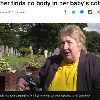【海外発!Breaking News】空の棺桶の真実を求めて42年 亡き息子のために闘い続ける母(英)