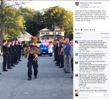 【海外発!Breaking News】安楽死となる警察犬 警察官一同が敬礼で最後の別れ(米)