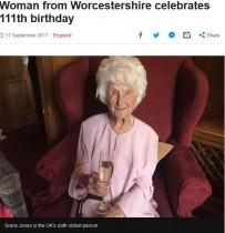 【海外発!Breaking News】111歳を迎えた英女性 長生きの秘訣は「一口のウイスキーとくよくよしないこと」