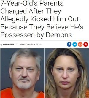 【海外発!Breaking News】「悪魔が棲みついている」7歳男児を家から追い出した鬼畜の親(米)