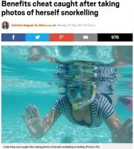 【海外発!Breaking News】障がい者手当を15年も騙し取っていた女、密告とホリデー先の写真でバレて御用(英)