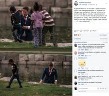 【海外発!Breaking News】結婚記念写真の撮影中、湖で溺れた少年を救助した花婿(カナダ)