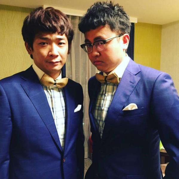 銀シャリ、鰻和弘と橋本直(画像は『銀シャリ橋本 2017年7月25日付Instagram「今日は内村てらす!」』のスクリーンショット)