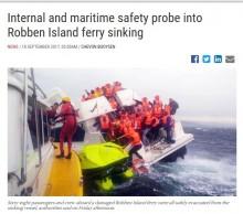 【海外発!Breaking News】世界遺産ロベン島を巡るフェリーが浸水 68名が救助(南ア)
