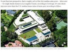 【イタすぎるセレブ達】ビヨンセ・Jay-Z夫妻、豪邸購入に住宅ローンを組んでいた 毎月返済額は2,700万円とも